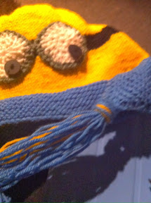Free Knitting Pattern For Minion Hat With Ear Flaps :