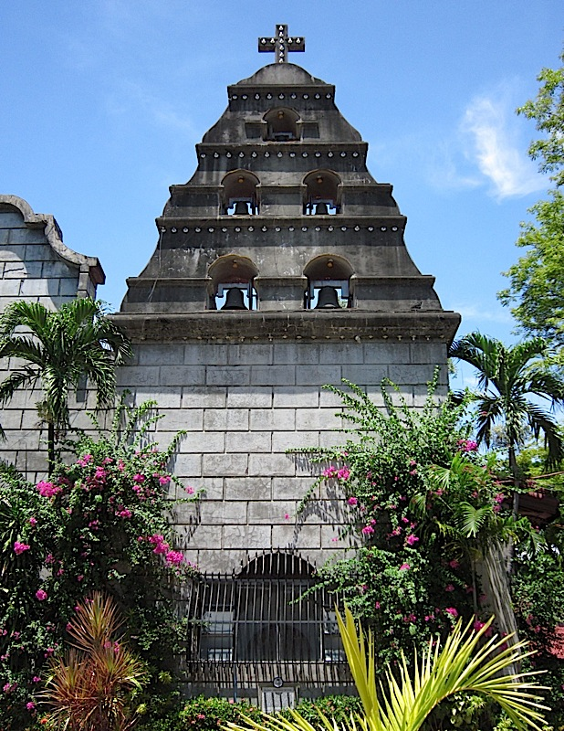 one of the two bell towers of the Agoo Basilica