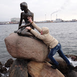 molesting the little mermaid in Copenhagen, Copenhagen, Denmark
