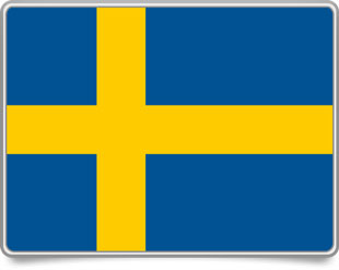 Swedish framed flag icons with box shadow