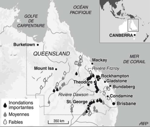 Les inondations au Queensland
