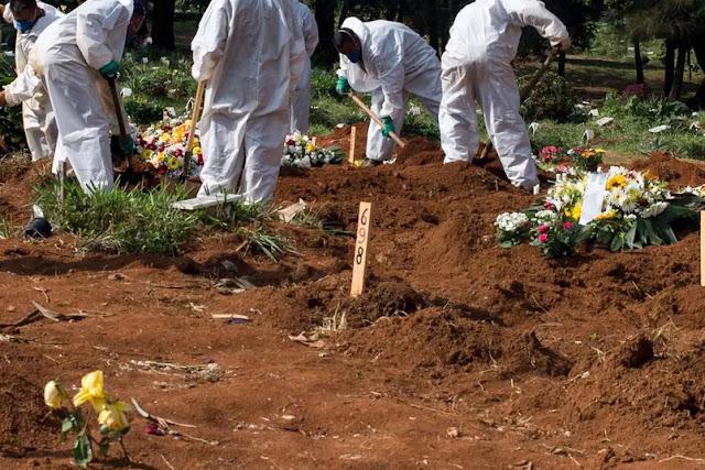 Brasil bate recorde com 2.841 mortes por Covid; total passa de 280 mil vítimas