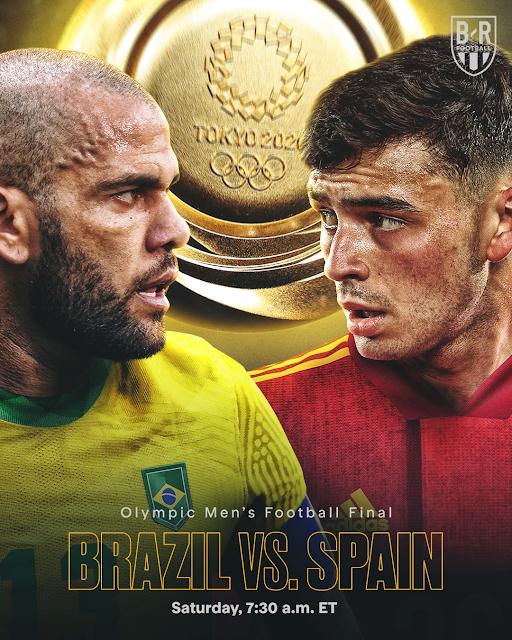 Live streaming Brazil vs Spain Football Olympic Tokyo