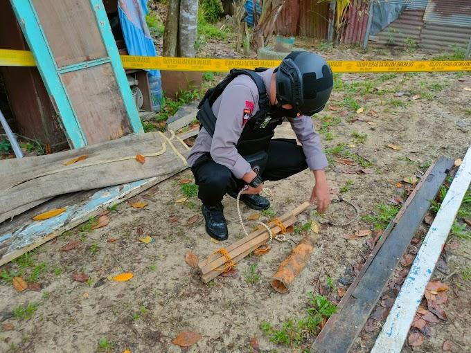 Berawal Laporan Warga, Detasemen Gegana Kembali Evakuasi Mortir Di Balikpapan Utara