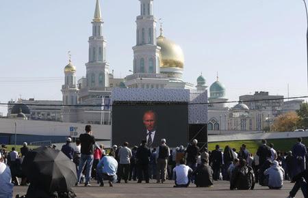Putin, Erdogan Mahmoud Abbas Resmikan Masjid Terbesar Eropa di Rusia