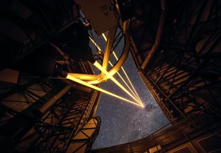 sistema de estrela guia laser