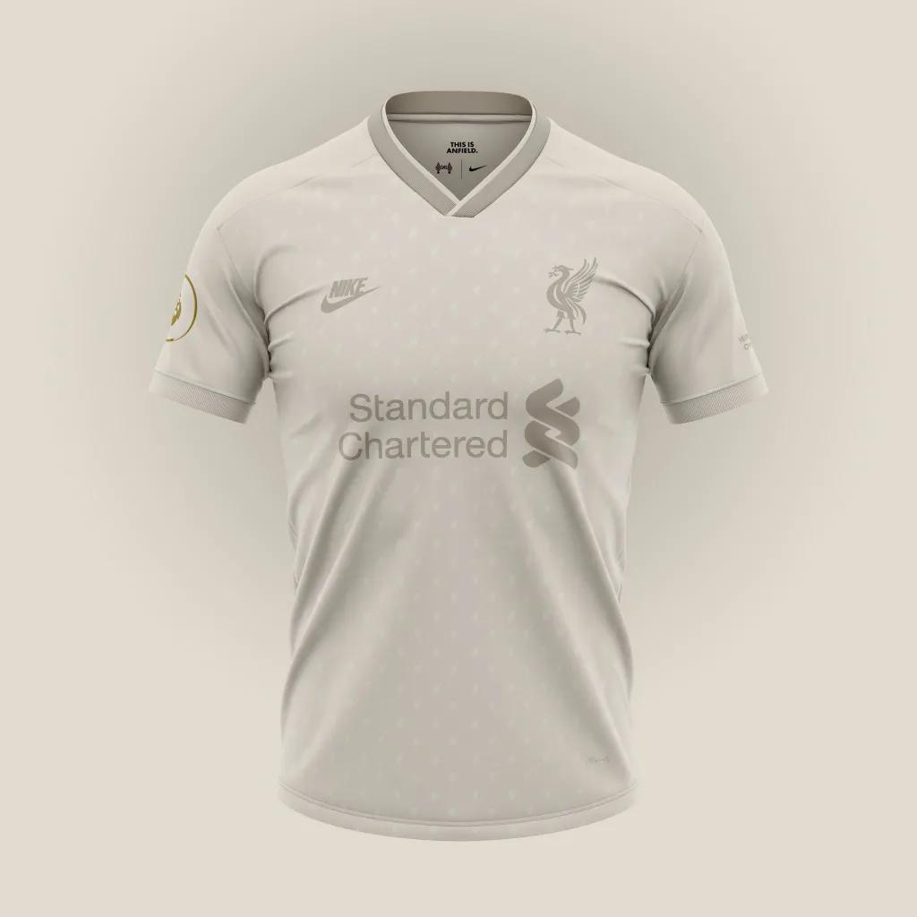 Desain konsep jersey away liverpool untuk menandingin desain konsep Liverpool dari Nike