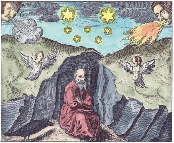 The Alchemist Meditating In The Depths Of The Earth, Emblems Related To Alchemy
