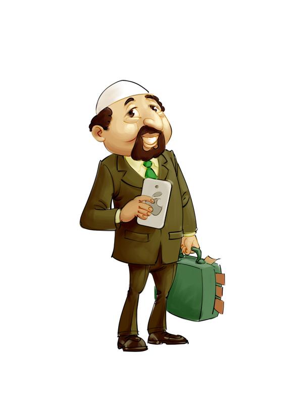 Sheikh mascot concept