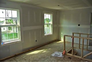 Picture of Ryan Homes Florence Model loft with drywall installed
