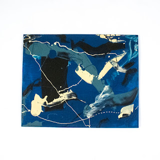 Domenic Battaglia Blue Splatter Painting
