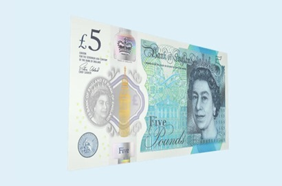 new British £5 Note
