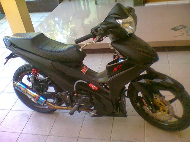 modifikasi mio sporty warna putih