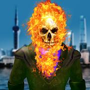 Ghost Fire Skull Superhero - Blaze Battle