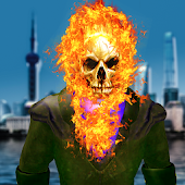 Ghost Fire Skull Superhero - Blaze Battle