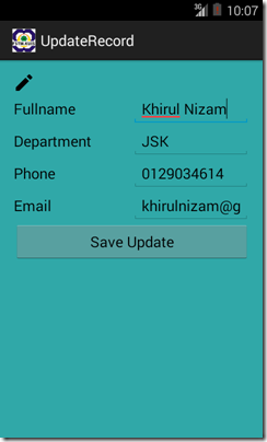 kerul net: Update Record by long-press ListView - Android
