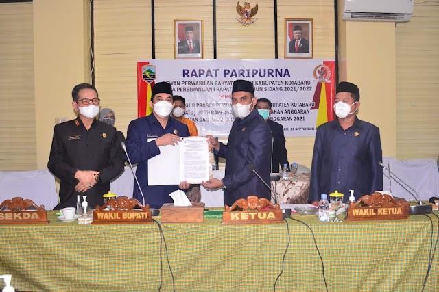 RAPBD-P Anggaran 2021 jadi Perda Disetujui DPRD Kotabaru