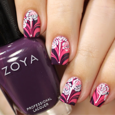 Zoya Stamped Watermarble