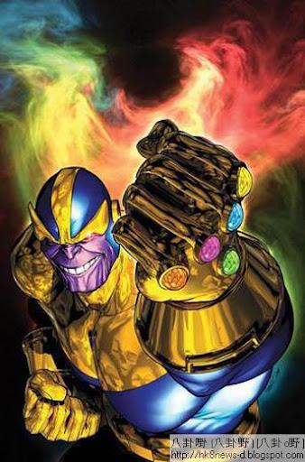 台灣《復仇者聯盟》的隱藏片尾出現的神秘人物,據說是Thanos(音譯:薩諾斯)。(圖/翻攝網路)