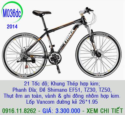 XE ĐẠP THỂ THAO, xe dap the thao, xe dap trinx, xe đạp thể thao chính hãng, xe dap asama,  M036dc 2014
