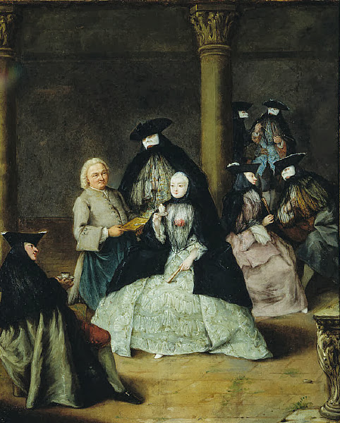 Pietro Longhi - Masked Party in a Courtyard
