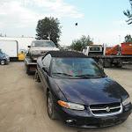 forklift + scrap car 13 07 12 002 - Volvo & Sebring - Vancouver.JPG