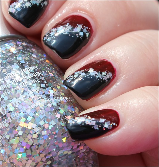Bordeaux Glitter Nail Art 05