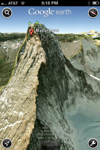 Google Earth 3D maps on iPhone 4S