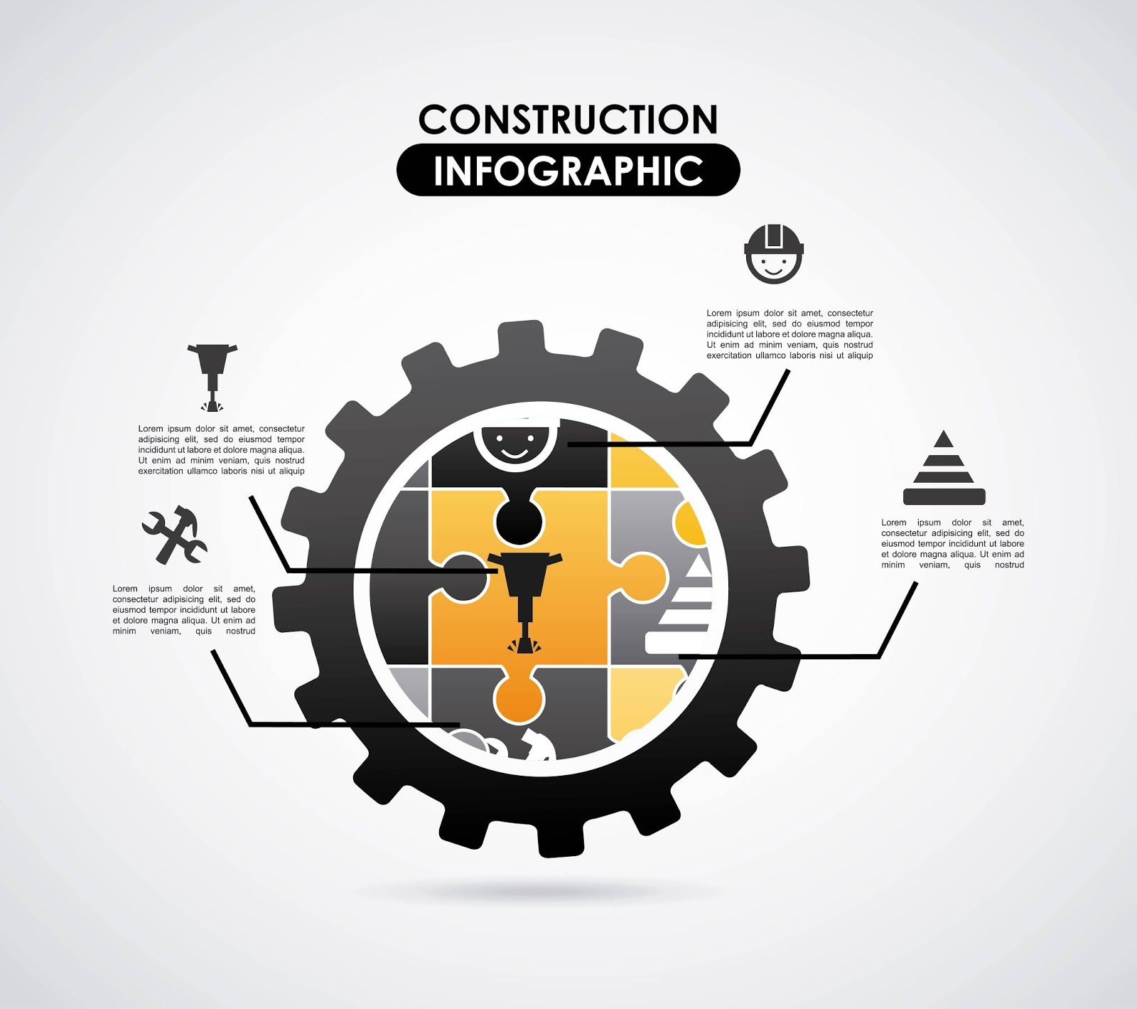 Construction Design Gray Background Vector Illustration	 Free Download Vector CDR, AI, EPS and PNG Formats