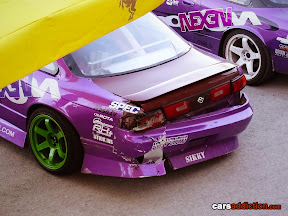 Lluis Lopez purple Nissan S14 with a sore ass
