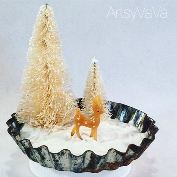 winter scene baking tin1A