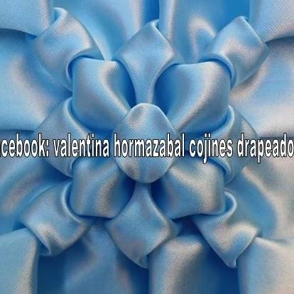 Valentina Hormazabal Cojines Drapeados
