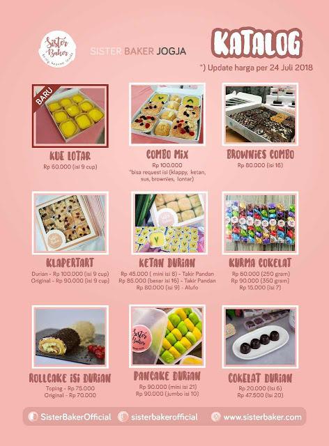 Aneka Olahan Durian Sister Baker Jogja