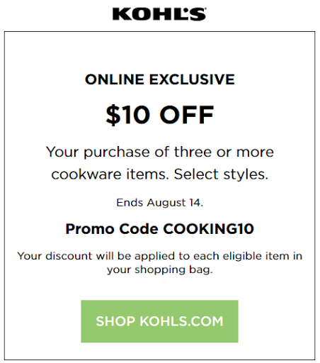 Dec 04,  · Today's Kohls Coupons | Up to 30% Off. Stack the coupons and save 15% for signing up for the newsletter, or mobile sales alerts, 25%, discount if you apply for Kohl's charge. Spend $48, not $50 to earn $10 in Kohl's Cash. If you make a purchase within $2 of the Kohl's Cash earned criteria, you will receive Kohl's Cash.