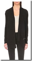 All Saints Drina asymmetric cardigan with shoulder zip attachment