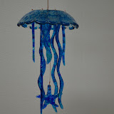 Blue Jelly Fish Wind Chime
