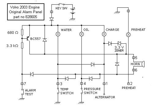 volvo penta hour meter wiring diagram volvo tamd 40 parts