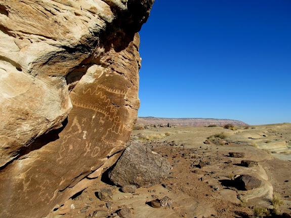 Petroglyphs near Little Cedar Mountain
