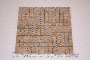 3/4x3/4, Flooring, Flooring & Mosaics, Interior, Mosaic, Natural, Noce, Stone, Tile, Travertine