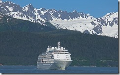 "SilverSeas ""Silver Shadow"" Ship in Resurrection Bay, Seward Alaska"