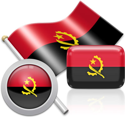 Angolan flag icons pictures collection