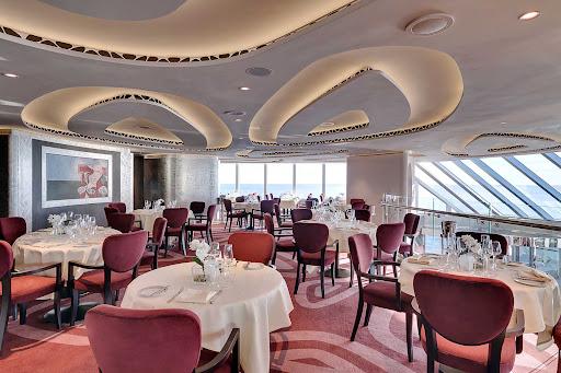msc-seaside-MSC-Yacht-Club-Restaurant.jpg - MSC Yacht Club guests gain access to a fine-dining restaurant on MSC Seaside.