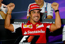 Fernando Alonso happy at the press conferance