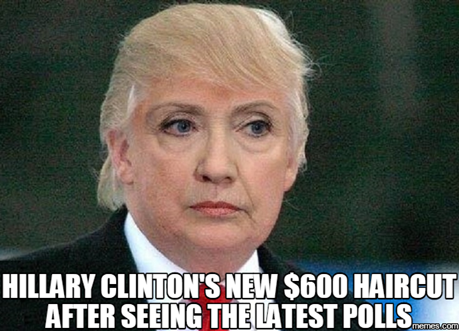 Hillary Clinton $600 Hair cut
