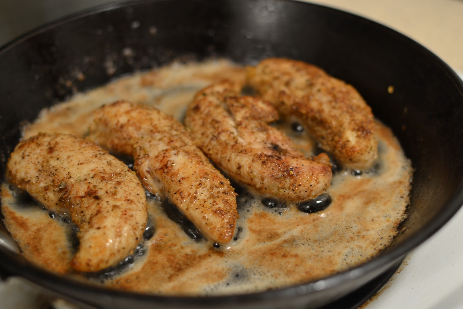 to go with this fennel-crusted chicken with brown butter and capers ...