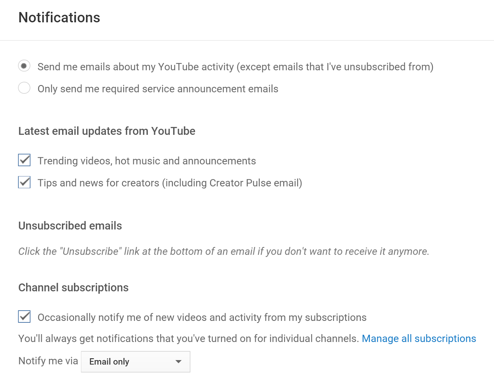 how to get notifications for comments youtube