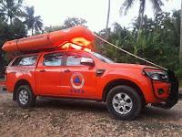 Penyisiran sungai malam hari Operasi laka sungai, orang tenggelam oleh BPBD Kabupaten Rembang