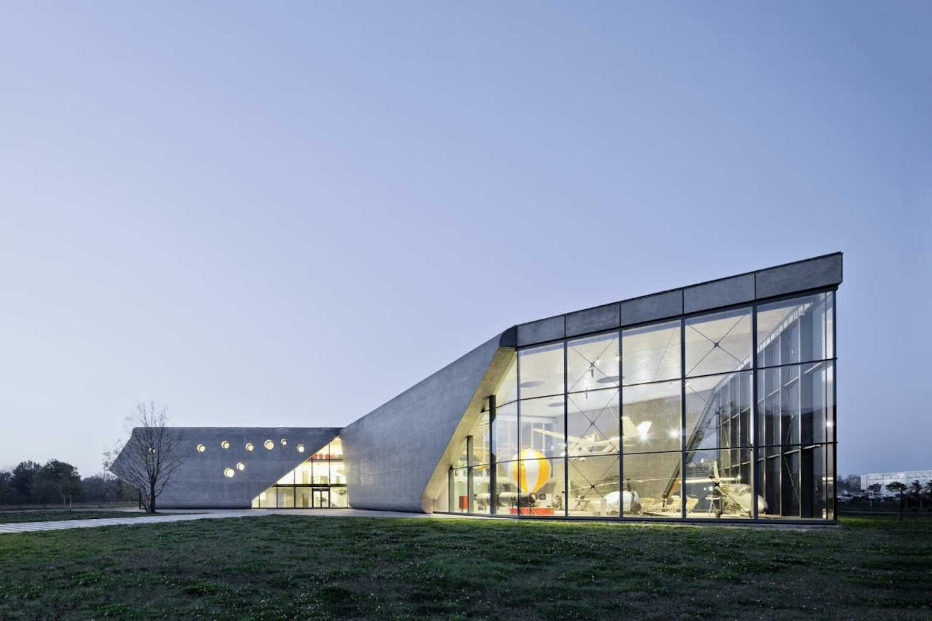 Poland: MUSEUM of AVIATION AND AVIATION EXHIBITION PARK by PYSALL ARCHITEKTEN