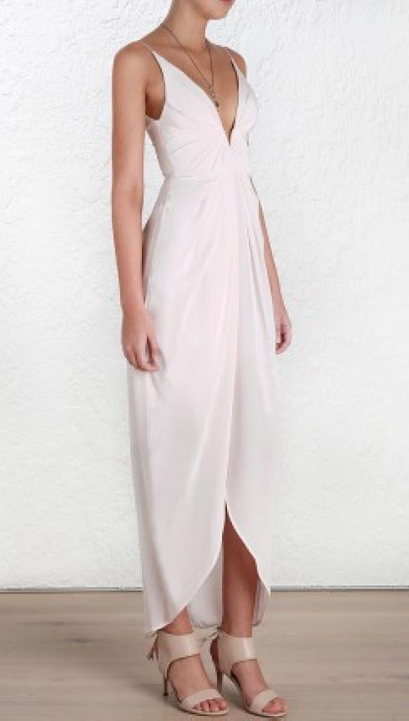 Silk v long dress zimmermann note