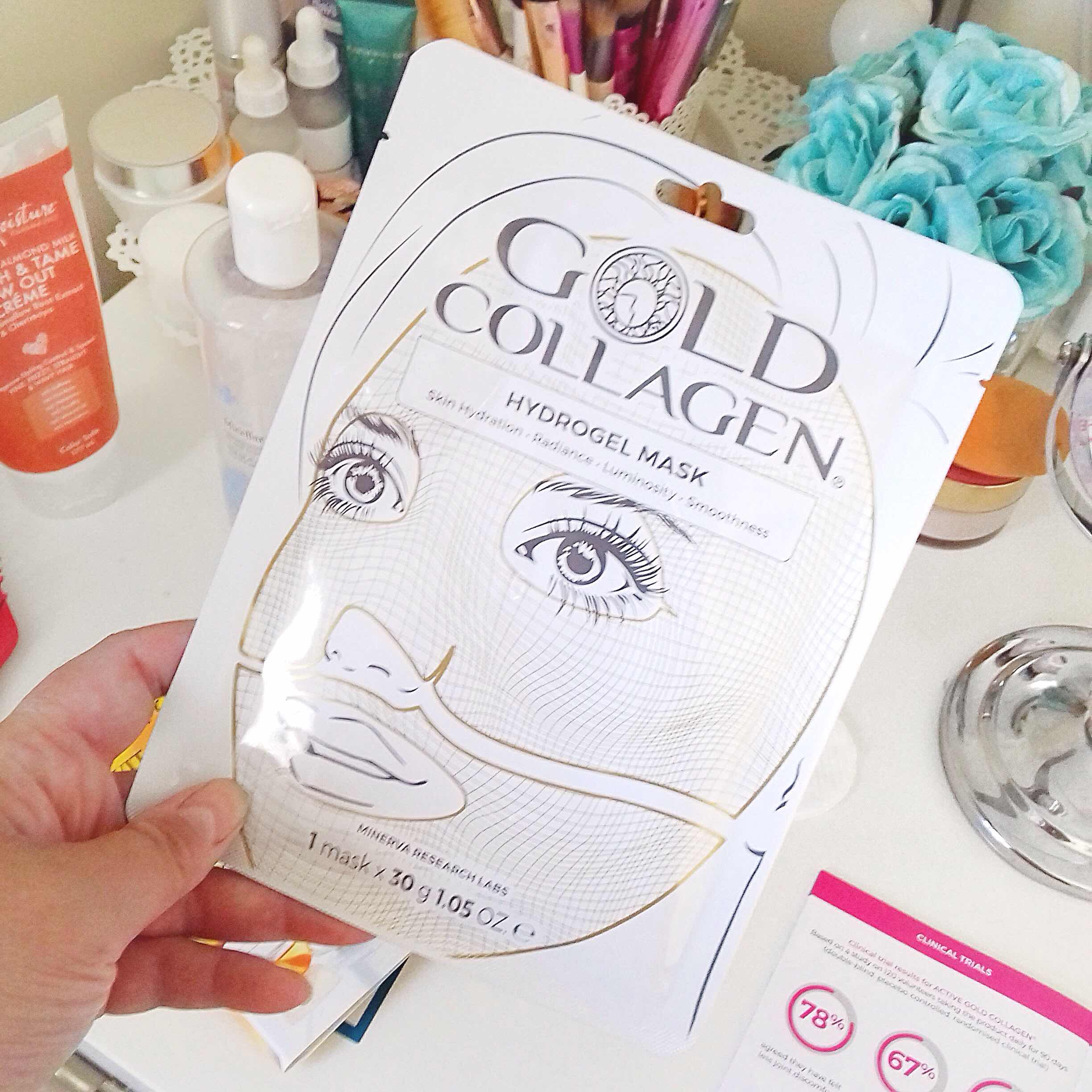 sheet mask, hydrating mask, anti ageing, skincare, gold collagen, review